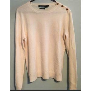 Ralph Lauren - Cream Cashmere Sweater - XL